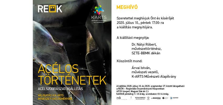 Acélos történetek - Kiállítás meghívó